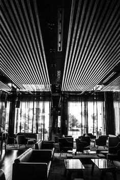 View of the Koi Bar at Grand Velas Riviera Nayarit. Black and white picture.