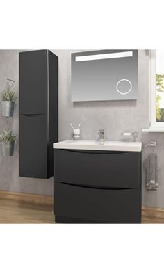 Buy the Maya Floorstanding 2 Drawer Vanity Unit & Basin - Black from Tap Warehouse and save on our Maya bathroom furniture.