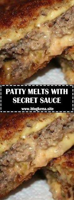 Patty Melts With Secret Sauce – Delicious Foods Around The World - Brian&HamburgerMR Quick Hamburger, Easy Hamburger Meat Recipes, Hamburger Steaks, Dinner Ideas Hamburger Meat, Hamburger Meat Recipes Ground, Crockpot Recipes, Cooking Recipes, Sauce Recipes, Crockpot Meat