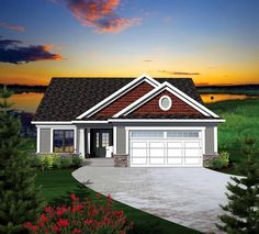 House Plan 73126 | Ranch Plan with 1459 Sq. Ft., 2 Bedrooms, 2 Bathrooms, 2 Car Garage