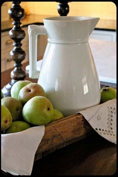 Green apples and ironstone!