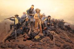 custer painting | Frederic Remington's Painting of Custer's Last Stand, at Woolaroc in ...
