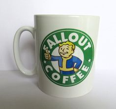 Fallout Xbox Playstation PC Gaming Starbucks Inspired Coffee Mug 10oz