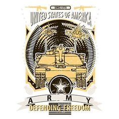 United States of America Army Defending Freedom by Mychristianshirts on Etsy