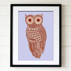 Jen Smith's quirky owl print