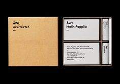 Visual identity and stationery for ÅWL Arkitekter designed by Henrik Nygren—Design.