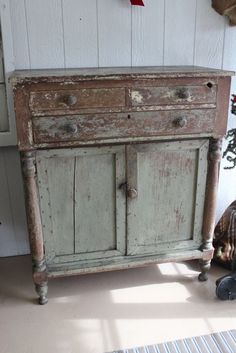 1840s Painted Country Chest from tradingplaceantiques on Ruby Lane