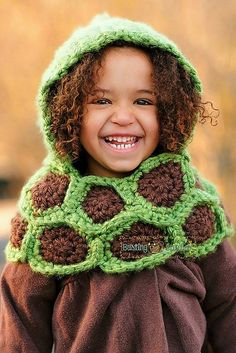 Green Hooded Turtle Cowl - Free by Busting Stitches