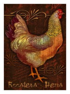 Roosters & Hens Giclée-Druck von Kate Ward Thacker - AllPosters.at