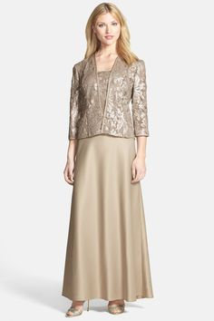 Alex Evenings Embellished Chiffon Gown & Jacket by Alex Evenings on @nordstrom_rack
