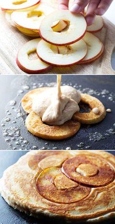 #food #pancakes #apples