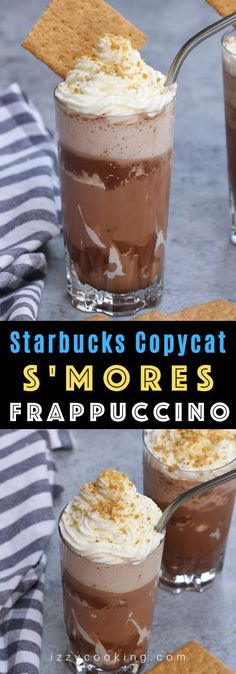 S'mores Frappuccino Recipe {Starbucks Copycat} Cilantro, Kitchen Recipes, Cooking Recipes, Starbucks, My Favorite Food, Favorite Recipes, Good Food, Yummy Food, Oatmeal