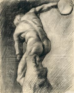 Vincent van Gogh (Dutch, 1853-1890), The discus thrower, February 1882. Drawing, 56.2 x 44.3 cm. Van Gogh Museum, Amsterdam.