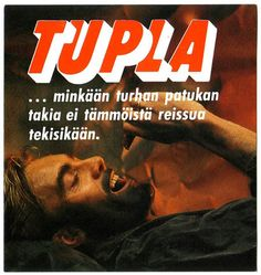 Mainos: Tupla, 1980-luku Old Commercials, Good Old Times, Magazine Articles, Vintage Ads, Time Travel, Finland, Album Covers, Nostalgia, Childhood