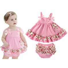 2017 Baby Meisje Kleding Zomer Pasgeboren Meisje Kleding Baby dress infant sling bat roupas body bebes next baby dress Set Girls Summer Outfits, Toddler Girl Outfits, Baby Outfits Newborn, Little Girl Dresses, Toddler Dress, Baby Girl Newborn, Kids Outfits, Infant Toddler, Summer Clothes