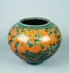 Crystalline glazed pottery vase.