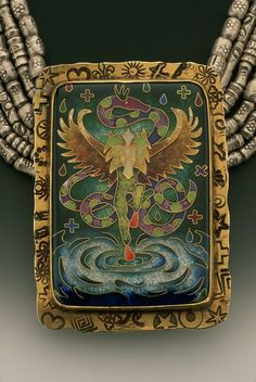 Another beautiful cloisonné by Linda Lundell.  http://www.lindalundell.com/cloisonne-jewelry.htm