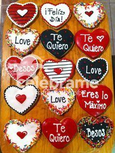 Galletas de mantequilla de San Valentin! Valentine's day cookies! | https://lomejordelaweb.es/