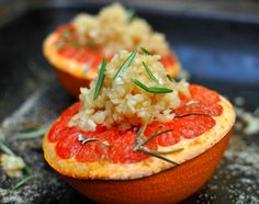 Oven Roasted Rosemary Grapefruit with Macadamia Crumble — My Beach Kitchen