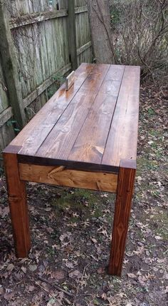 Beautiful Reclaimed Wood English Chestnut Stained Primitive FARM HOUSE Country Farmhouse Kitchen Table Home Office Desk Custom Sizes Colors Country Kitchen Farmhouse, Farmhouse Table, Wood Display, Rustic Table, Custom Woodworking, Coastal Homes, How To Distress Wood, Wood Projects, Dining Table