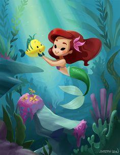 Ariel y Flounder - L