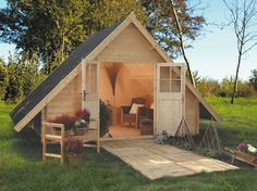 Tiny House Movement and Why it's so Popular - Rustic Design Tiny Cabins, Tiny House Cabin, Cabins And Cottages, Tiny House Design, Cabin Design, Log Cabins, Cubby Houses, Play Houses, Pallet House