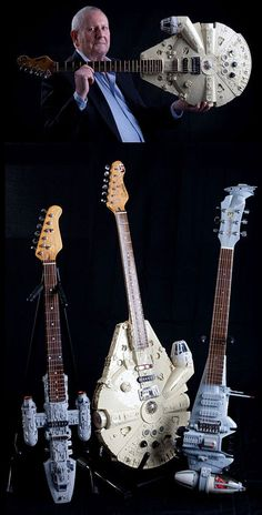 Geek Uses Star Wars Ships to Build Fully-Functional Electric Guitars