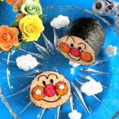 アンパンマンのデコ巻き寿司♪(๑ᴖ◡ᴖ๑)♪