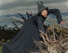 Maggie Rizer for Yohji Yamamoto, photographed by Inez van Lamsweerde  and Vinoodh Matadin, Fall/Winter 1998
