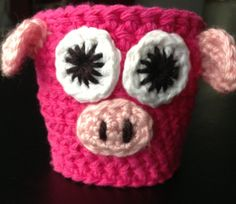 Pink Pig Cup Cozy For a Standard Size Coffee To-Go Cup; More Available in Our Shop!