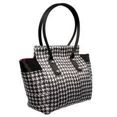Marilyn Tote Houndstooth Black and White Handbag