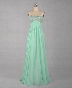 A-line Sweetheart Sleeveless Floor-length Chiffon Prom Dress