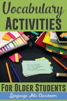 Looking to spice up homeschooling lessons? Activities for teaching vocabulary - while not boring kids.