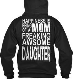 Happiness Is Being Mom | Mother's Day  Black Sweatshirt Back
