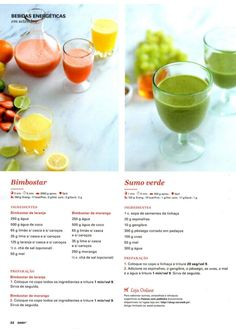 Revista Bimby Setembro 2015 Healthy Drinks, Healthy Recipes, My Kitchen Rules, Fruit Juice, Meal Planning, Good Food, Brunch, Food And Drink, Low Carb