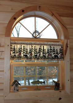 Moose and Bear Northwoods Lodge Country Curtain by stitchitcountry, $24.95