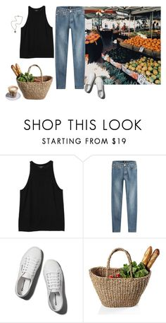 """South Melbourne Market"" by chromatography ❤ liked on Polyvore featuring Monki, A.P.C., Saeco, Abercrombie & Fitch and French Kande"