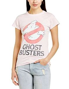 Ghostbusters faded 80s movie T-shirt for ladies