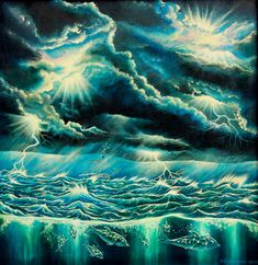 Tormenta en alta mar.