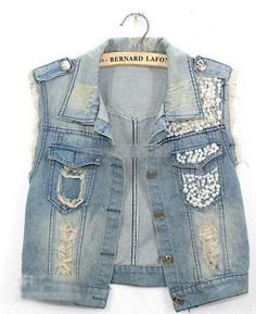 Colete Jeans Importado Tam P