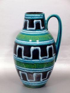 Vintage 60er Keramik Vase Scheurich / Modell 279-38