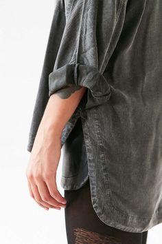 Silence + Noise Heffe Pullover Tunic Shirt