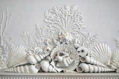 The Gaillard-Bennett Home, ca.1800, Charleston, SC-sea shell carvings on fireplace