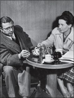 """Sartre & de Beauvoir: """"liberte, egalite, fraternite"""" The parole of the french revolution became this couples parole to revolutionize the way relationships were defined at the time."""
