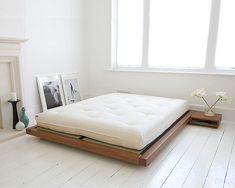 This is exactly (3x) how I want my room! I love sleeping close to the floor. Love, love, love this aesthetic.