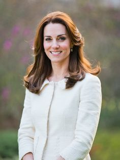 The Duchess used a solo shot of herself to send to the International Children's Palliative Care Network with a letter of support for their conference and work. It gave us a better look at her jacket and earrings.