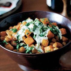 Curry-Roasted Butternut Squash and Chickpeas