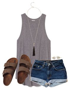 """THANKS YALL FOR 1.3K!!!!!"" by lydia-hh ❤ liked on Polyvore featuring Birkenstock and Mint Velvet"
