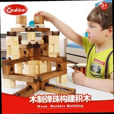 47.12$  Watch here - http://ali0xb.worldwells.pw/go.php?t=32558088746 - wooden pipe building blocks of the track ball toy Toys Model Building Kits Assembly blocks Kids Toys Diy 3d toy