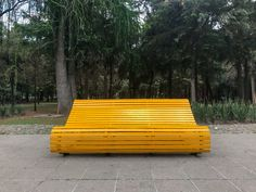 Yellow Bench - Tamayo Park, Mexico City